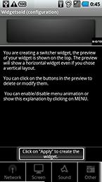 スクリーンショット: widgetsoid01